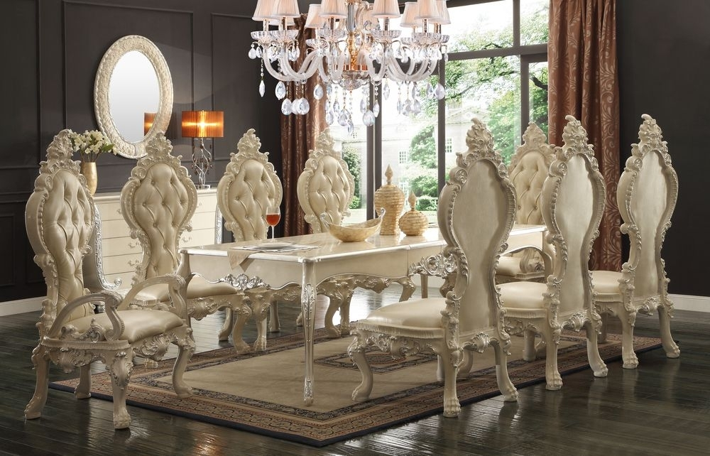 The White Royal Dining Room | Victorian And French Provincial Dining Regarding Royal Dining Tables (Image 24 of 25)