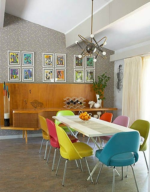 This Article Will Improve Your Dining Room Lighting: Read Or Miss Within Colourful Dining Tables And Chairs (Image 24 of 25)