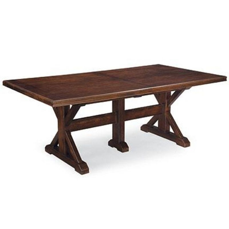 Thomasville™ Wanderlust Trestle Dining Table Ensemble – Sears Regarding Norwood 6 Piece Rectangle Extension Dining Sets (View 18 of 25)