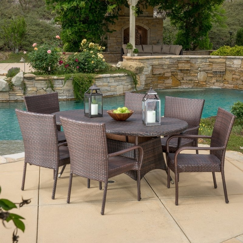 Three Posts Barney 7 Piece Dining Set & Reviews | Wayfair Throughout Gavin 7 Piece Dining Sets With Clint Side Chairs (View 16 of 25)