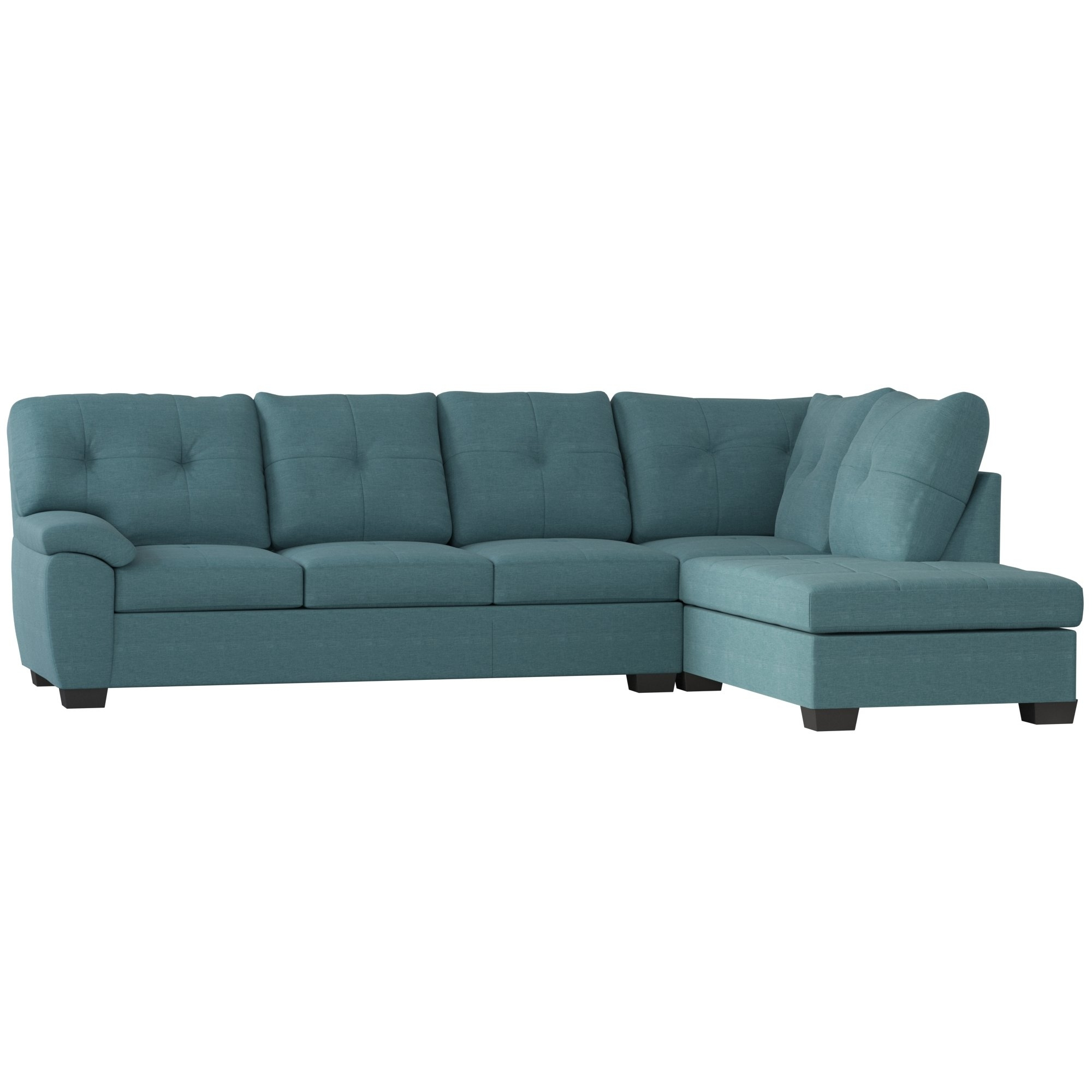Three Posts Camden Sectional & Reviews | Wayfair With Kristen Silver Grey 6 Piece Power Reclining Sectionals (View 24 of 25)