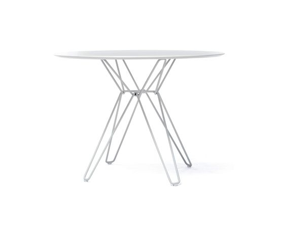 Tio Circular Dining Table Laminate Ø:100 H:72 Cmmassproductions Pertaining To White Circular Dining Tables (Image 22 of 25)