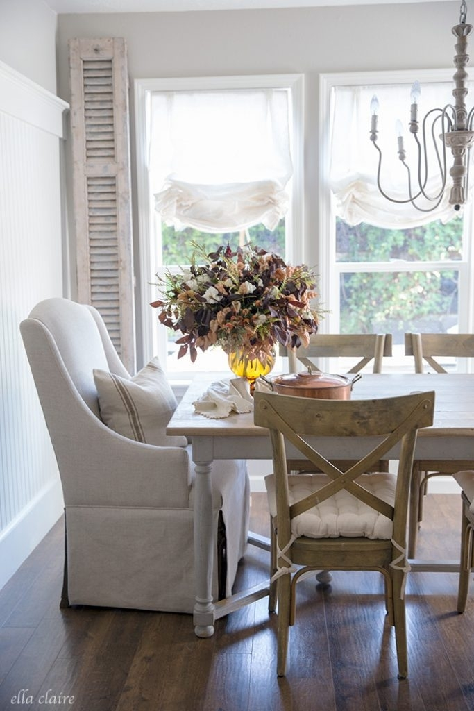 Tips For Fall And Thanksgiving Entertaining – Ella Claire With Kirsten 6 Piece Dining Sets (Image 24 of 25)
