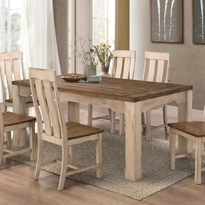 Titus Dining Tables T3030 Modern Country Dining Table (Rectangle Inside Country Dining Tables (Image 22 of 25)