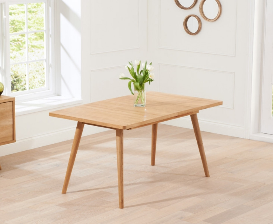 Tivoli 150Cm Retro Oak Extending Dining Table | The Great Furniture With Retro Extending Dining Tables (View 3 of 25)