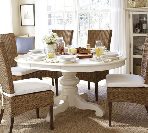 Tivoli Extending Pedestal Dining Table | Pottery Barn | For The Home In Barn House Dining Tables (Image 25 of 25)