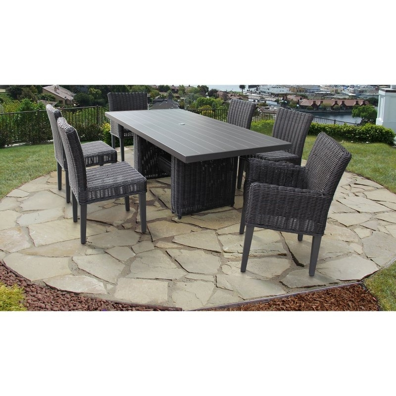 Tk Classics Venice 7 Piece Wicker Patio Dining Set In 2018 Regarding Cora 7 Piece Dining Sets (View 11 of 25)