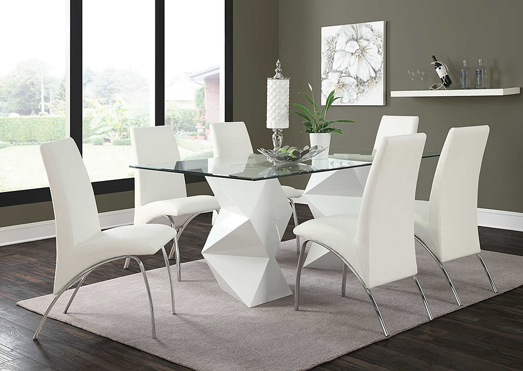 Today's Furniture Design – Philadelphia, Pa White & White Dining Throughout Logan 6 Piece Dining Sets (Image 19 of 25)