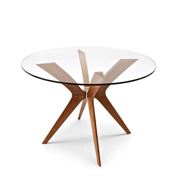 Tokyo Cs/18 Rd 110 G Glass And Wood Round Dining Tablecalligaris In Tokyo Dining Tables (View 24 of 25)