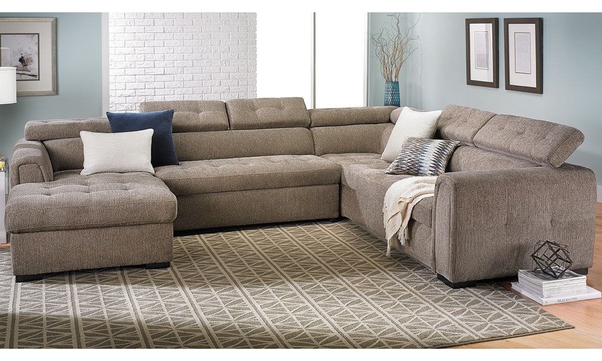 Toledo Contemporary Sleeper Storage Sectional | The Dump Luxe For Norfolk Grey 6 Piece Sectionals With Laf Chaise (View 21 of 25)