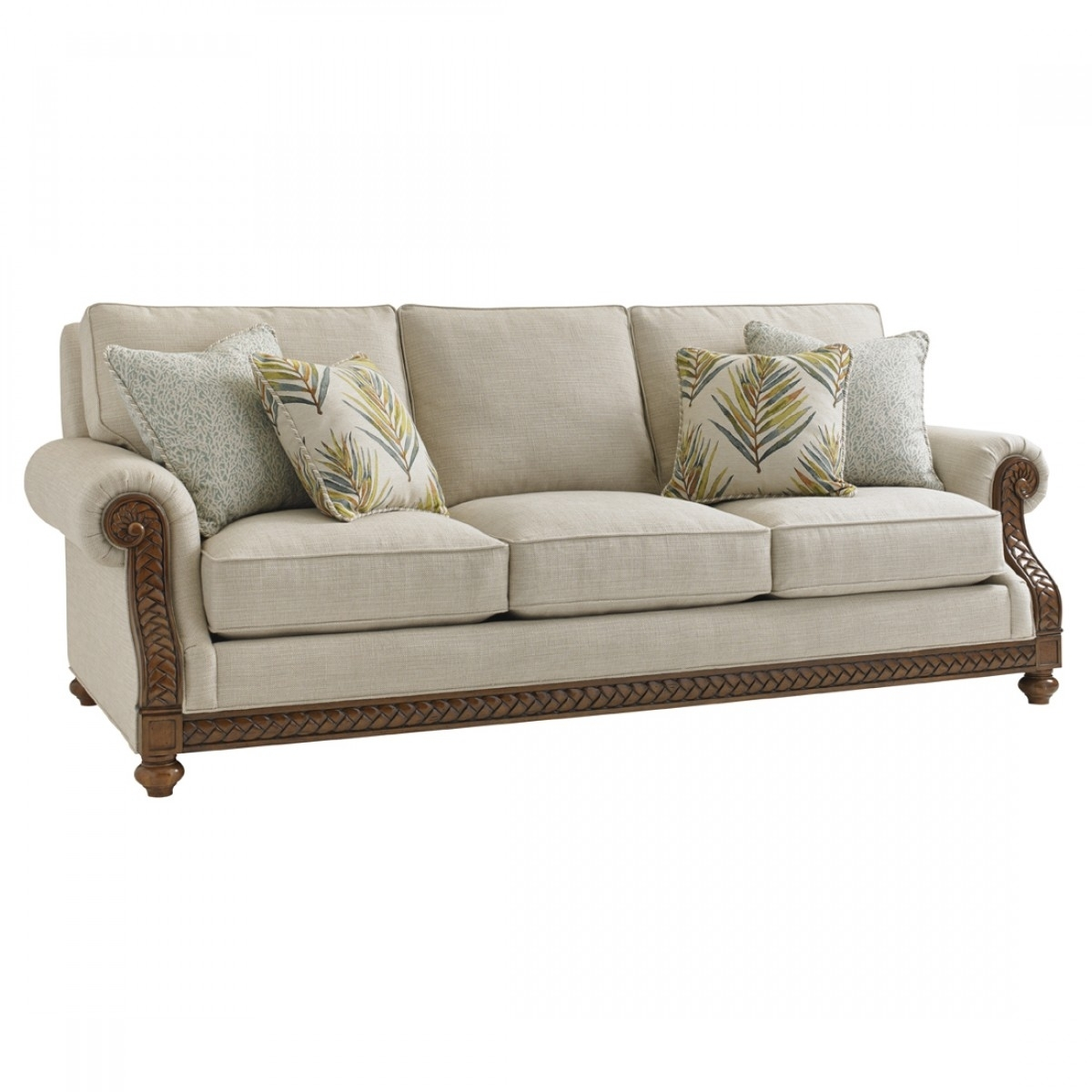 Tommy Bahama Home Bali Hai Shoreline Sofa Pertaining To Marcus Oyster 6 Piece Sectionals With Power Headrest And Usb (View 6 of 25)