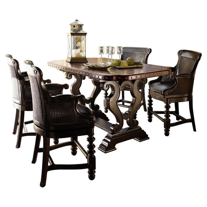 Tommy Bahama Home Kingstown Sienna Bistro Dining Table & Reviews With Outdoor Sienna Dining Tables (Image 24 of 25)
