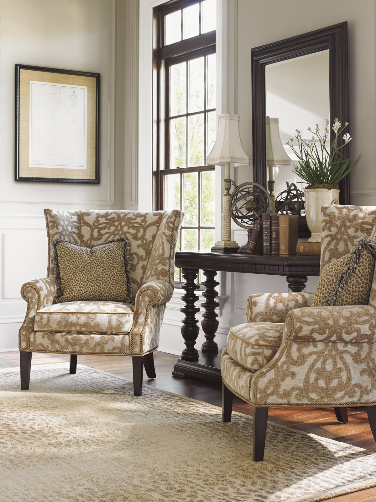 Tommy Bahama Upholstery Marissa Wing Chair | Lexington Home Brands intended for Marissa Ii 3 Piece Sectionals