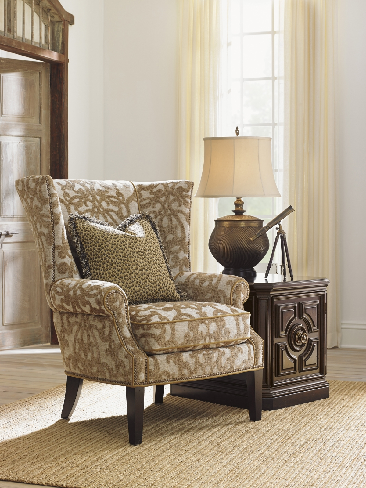 Tommy Bahama Upholstery Marissa Wing Chair | Lexington Home Brands Within Marissa Ii 3 Piece Sectionals (Image 22 of 25)