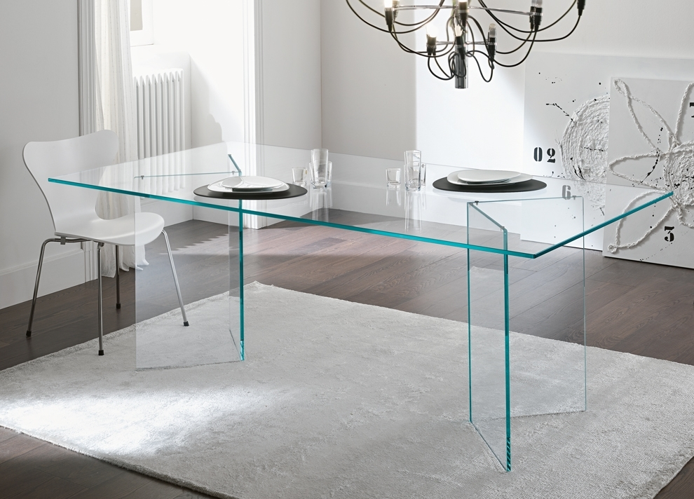 Tonelli Bacco Glass Dining Table – Modern Glass Dining Tables Within Glasses Dining Tables (Image 23 of 25)