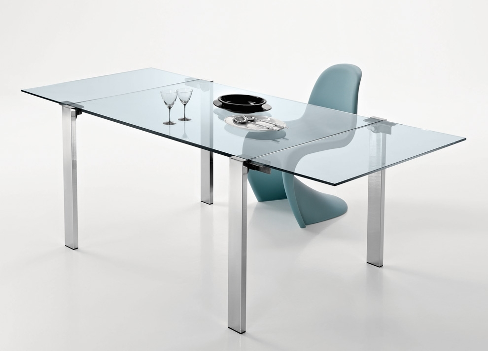 Tonelli Livingstone Extending Glass Dining Table – Extending Glass Regarding Extending Glass Dining Tables (Image 25 of 25)