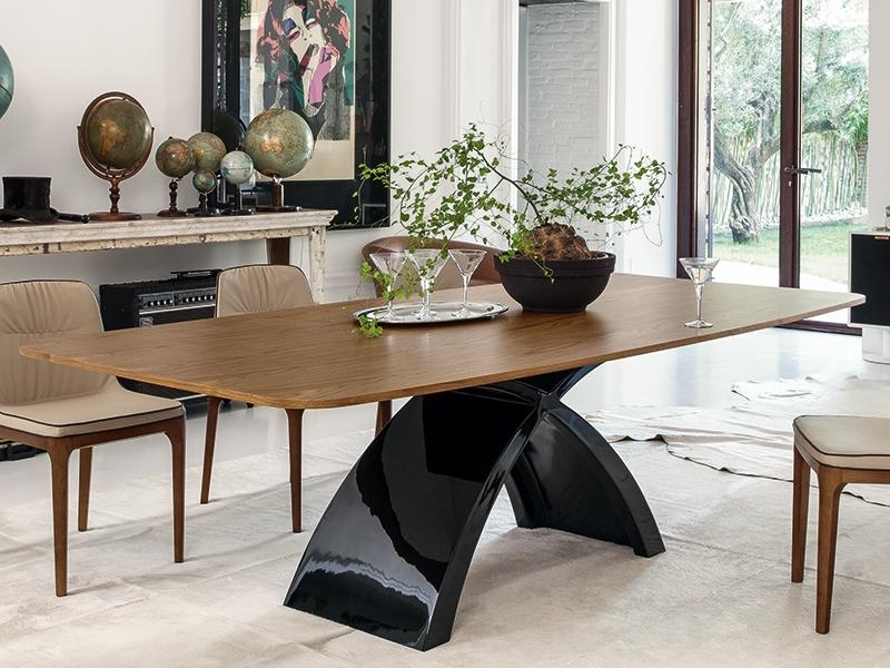 Tonin Casa Top Tokyo Dining Table With Classic Wood Finish | Modern In Tokyo Dining Tables (Image 25 of 25)