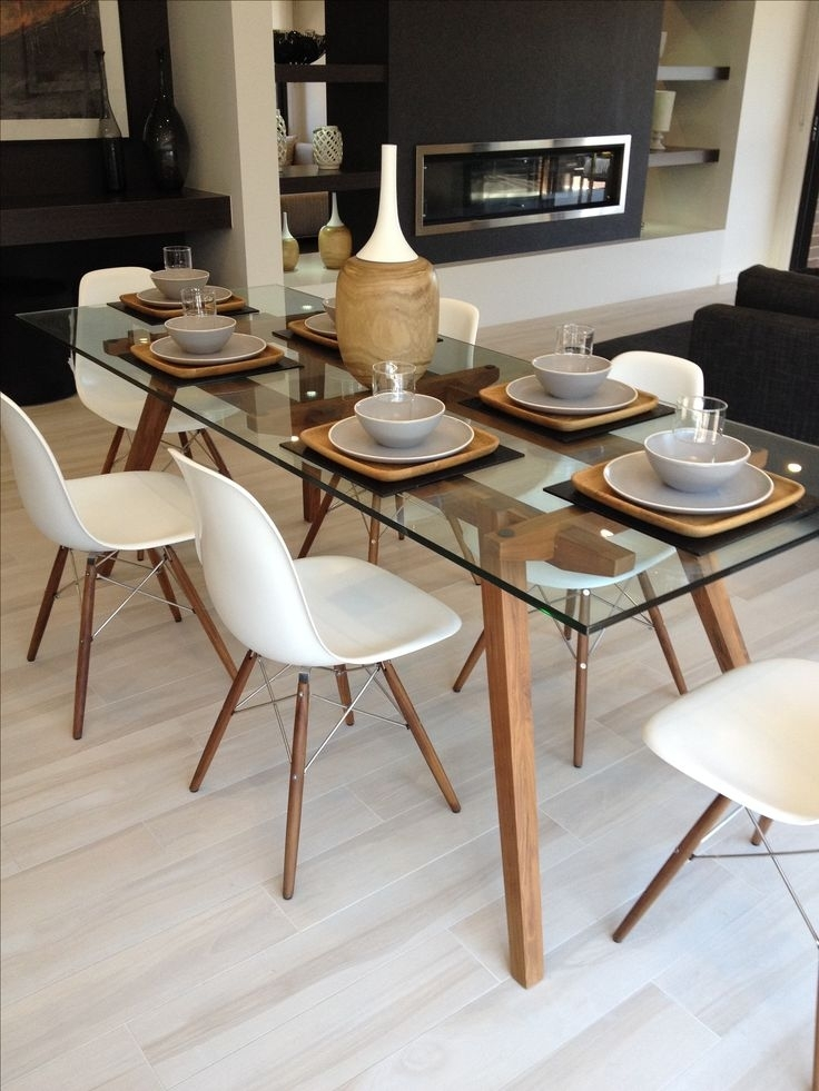 Top 20 Dining Room Table Set Ideas | Dining Table Set | Pinterest Within Glass Dining Tables And Chairs (View 2 of 25)