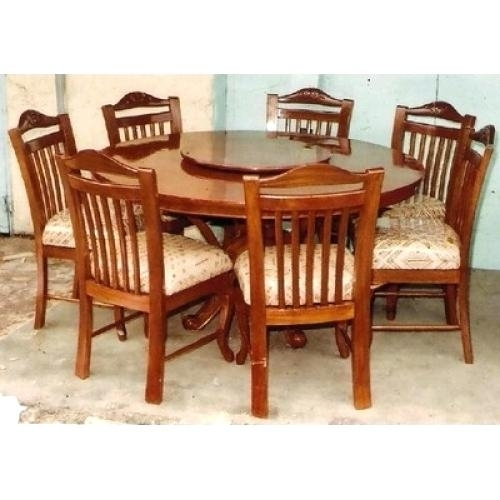 Top 23 Awesome Solid Oak Round Dining Table 6 Chairs – Fernando Rees In 6 Seat Round Dining Tables (View 7 of 25)