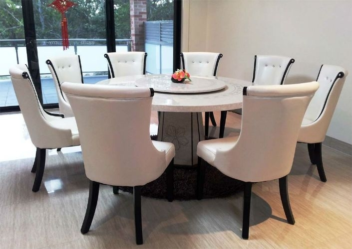 Top 5 Gorgeous White Marble Round Dining Tables   Dining Area Inside Circular Dining Tables (Image 25 of 25)