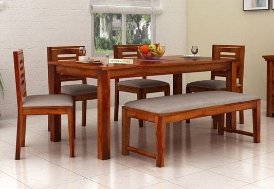 Top 6 Seater Dining Table Online Six Seater Dining Table Set India Throughout Six Seater Dining Tables (Image 25 of 25)