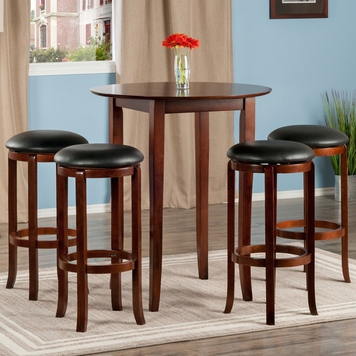 Top Brilliant Winsome Pub Table Pertaining To Property Ideas Within Cora 5 Piece Dining Sets (Image 23 of 25)