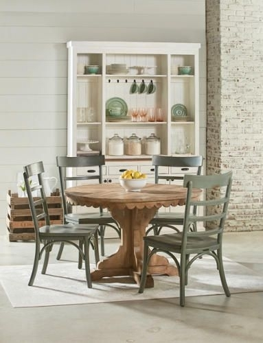 Top Tier Round Pedestal Table In 2018 | Farmhouse Style | Pinterest For Magnolia Home Top Tier Round Dining Tables (Image 25 of 25)