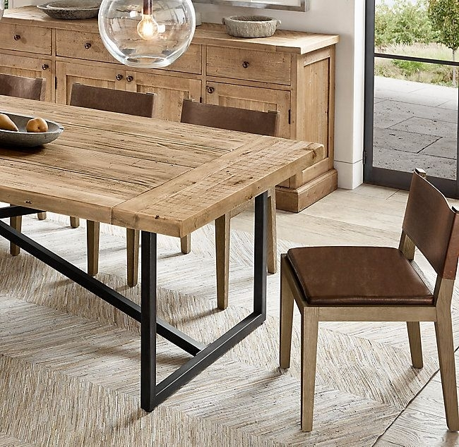Torano Salvaged Rectangular Dining Table | Fine Dining | Pinterest With Regard To Caira 9 Piece Extension Dining Sets With Diamond Back Chairs (Image 18 of 25)