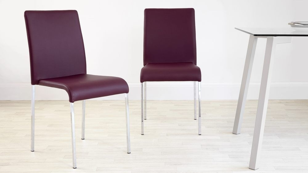 Tori Modern Dining Chair | Purple Dining Chairs, Dining Chairs And Pertaining To Purple Faux Leather Dining Chairs (Image 25 of 25)