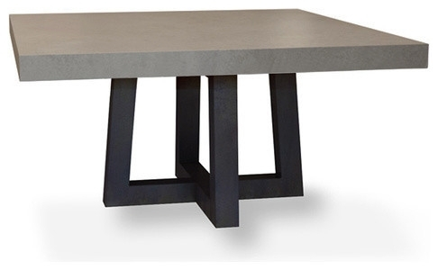 Torre Square Concrete Dining Table – Modern – Dining Tables – With Regard To Square Dining Tables (View 10 of 25)