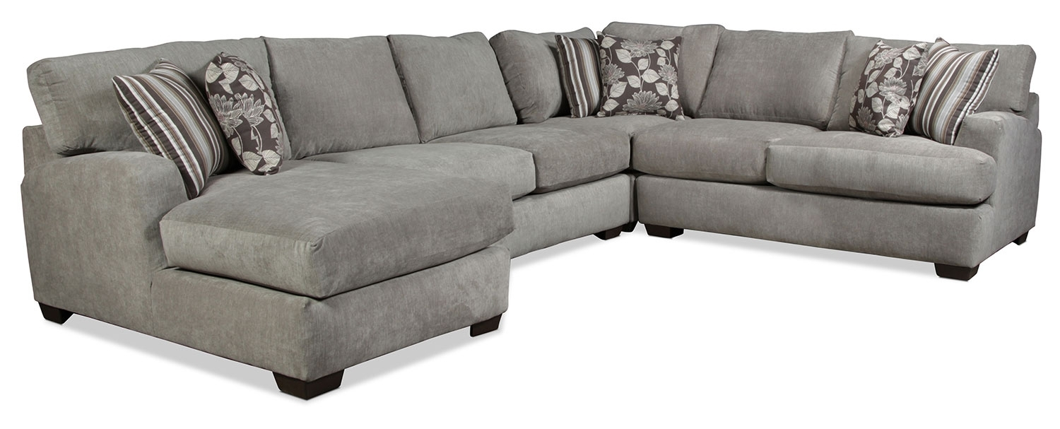 Torrey 4 Piece Left Facing Sectional – Gray | Regarding Josephine 2 Piece Sectionals With Raf Sofa (Image 25 of 25)