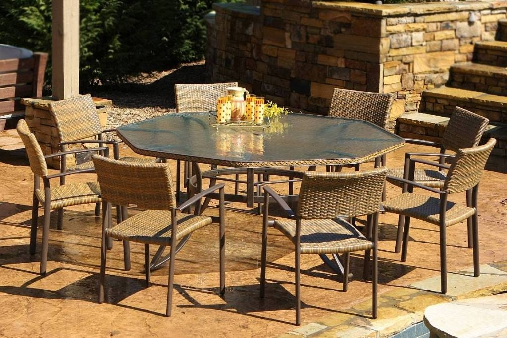 Tortuga Maracay 9Pc Resin Wicker Dining Set – Mard 009 Inside Outdoor Tortuga Dining Tables (Image 11 of 25)