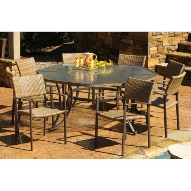 Tortuga Outdoor Maracay 9 Piece Dining Set | Ebay For Outdoor Tortuga Dining Tables (Image 17 of 25)