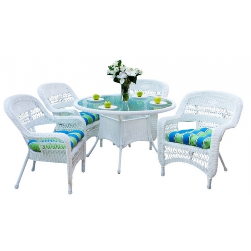 Tortuga Outdoor Portside 5 Piece Dining Set Within Outdoor Tortuga Dining Tables (Image 21 of 25)