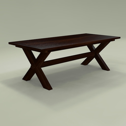 Toscana Dining Table 3D Model – Formfonts 3D Models & Textures With Toscana Dining Tables (View 16 of 25)