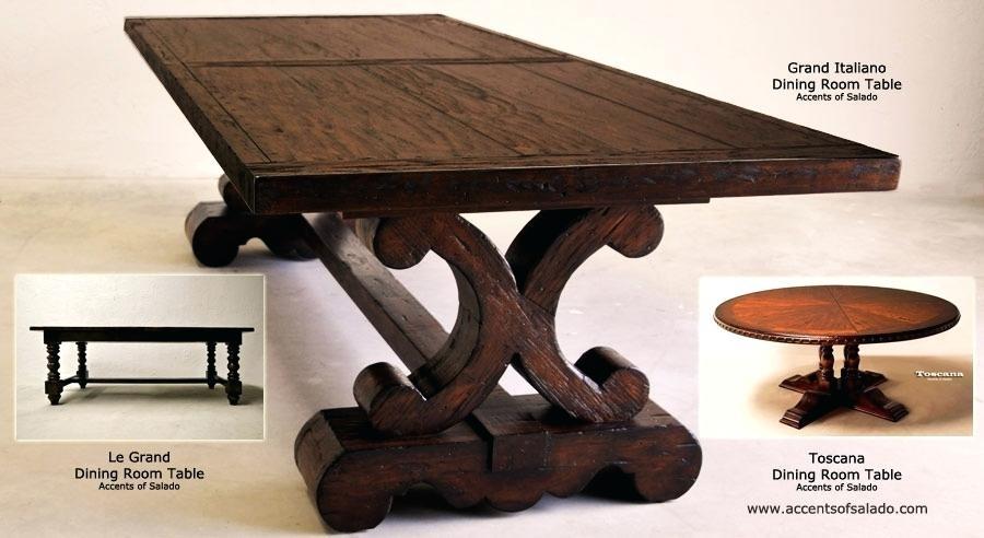 Toscana Dining Table Toscana Pedestal Dining Table – Nmatrixx pertaining to Toscana Dining Tables