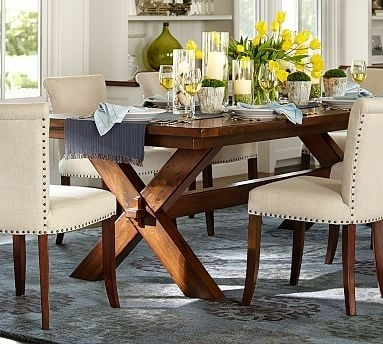Toscana Extending Dining Table – Dark Brown Or Chestnut Color With Regard To Toscana Dining Tables (Image 19 of 25)