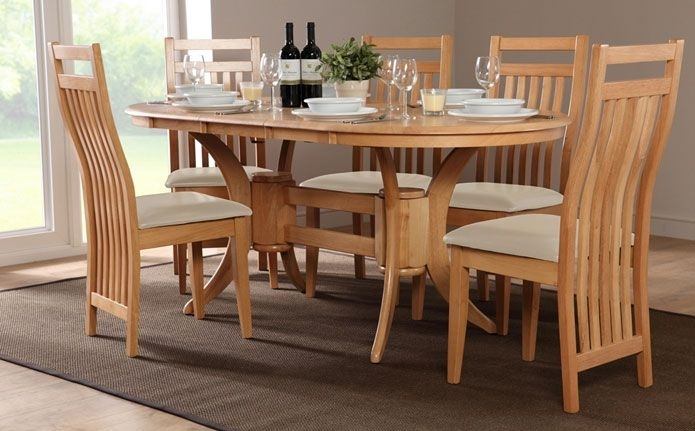 Townhouse & Bali Oval Extending Dining Set (Ivory)   Home Ideas Pertaining To Oval Extending Dining Tables And Chairs (View 19 of 25)