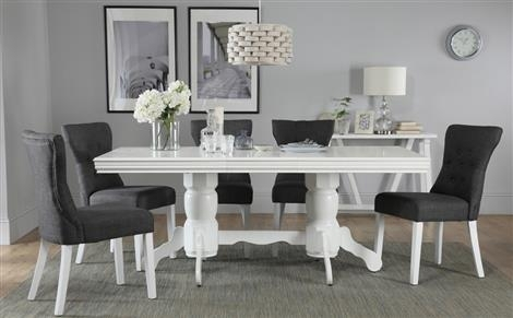 Traditional Dining Sets | Furniture Choice In White Extendable Dining Tables And Chairs (Image 22 of 25)