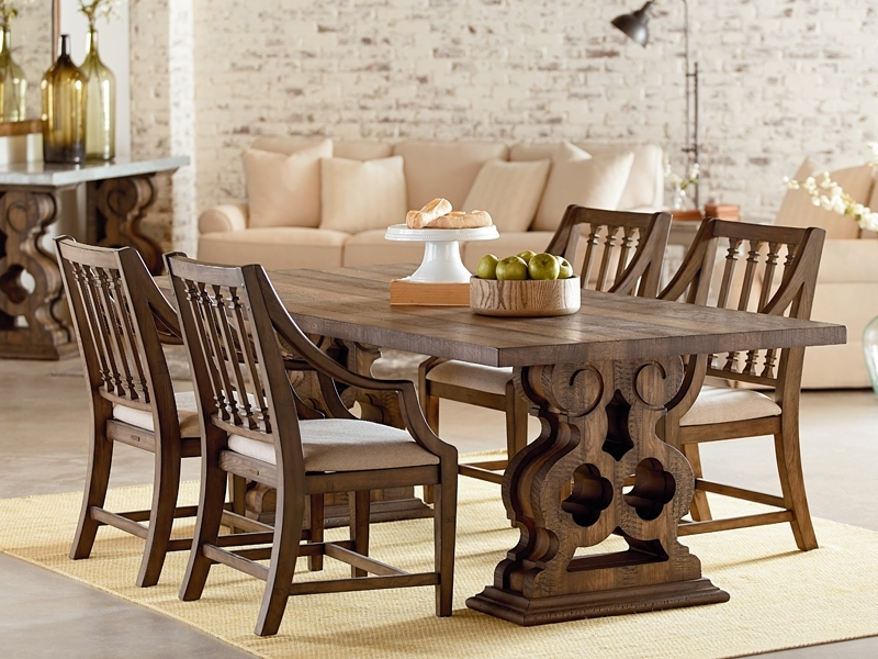 Traditional Double Pedestal Tablemagnolia Home Regarding Magnolia Home Prairie Dining Tables (Image 25 of 25)