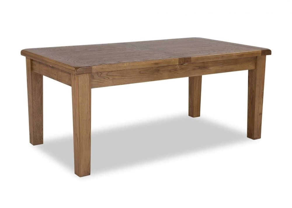 Traditional Extendable Oak Dining Table – Normandy – Ez Living Furniture With Regard To Oak Dining Tables (View 7 of 25)