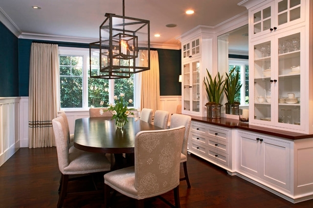 Traditional Homes Throughout Dining Room Cabinets (Image 25 of 25)