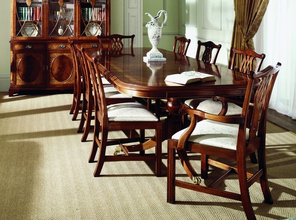 Traditional Mahogany Extending Dining Table (Image 19 of 25)