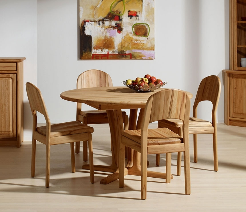 Traditional Round Teak Dining Table Cd | Costa Rican Furniture Pertaining To Beech Dining Tables And Chairs (View 8 of 25)