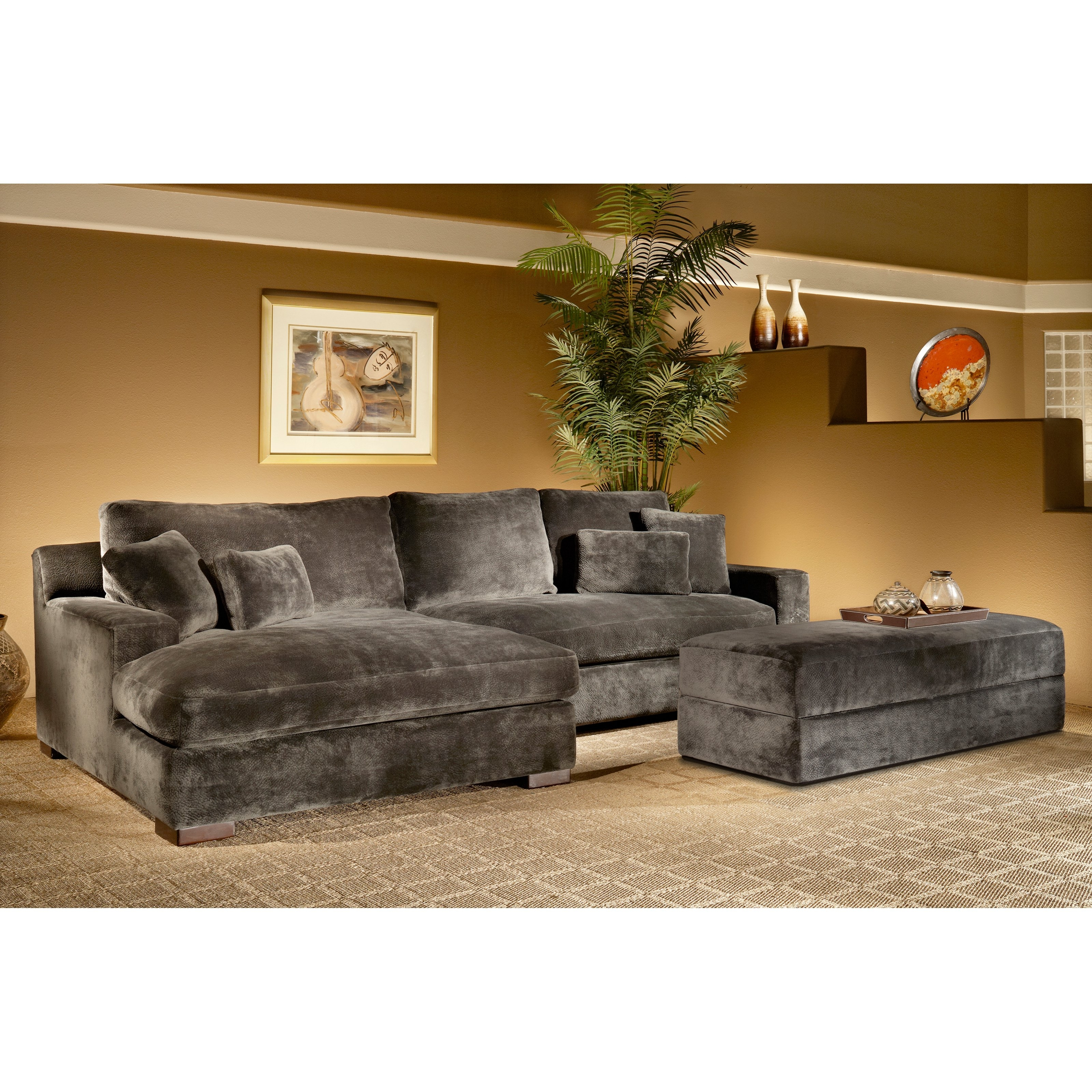 Transitional Sectional Comfy Amp Stylish Home Decor T For Malbry Point 3 Piece Sectionals With Laf Chaise (Image 25 of 25)