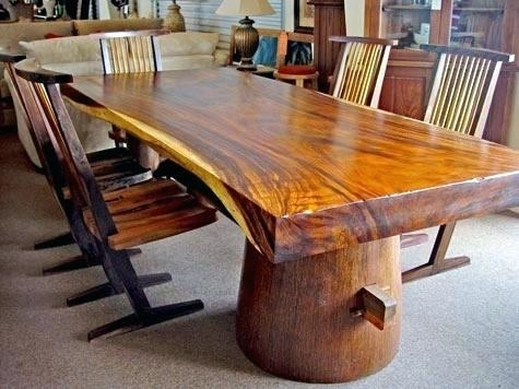 Tree Trunk Table – Parentplace (Image 23 of 25)