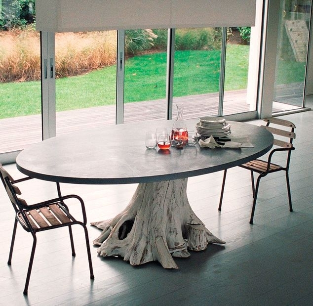 Tree Trunk Tables : Tree Trunk Table Intended For Tree Dining Tables (Image 24 of 25)