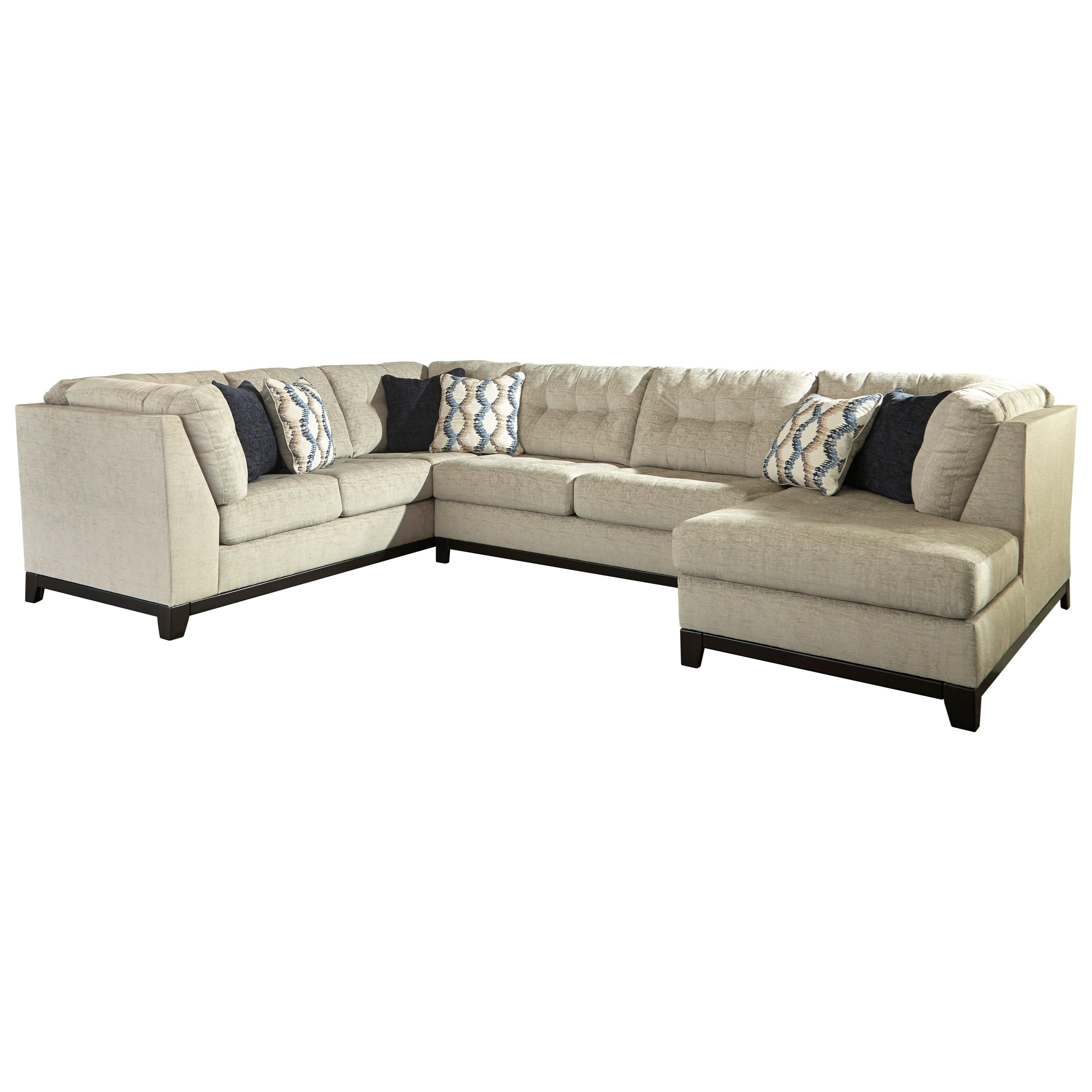 Trendz Bennington 3 Piece Sectional With Right Chaise | Ruby Gordon Throughout Gordon 3 Piece Sectionals With Raf Chaise (Image 25 of 25)