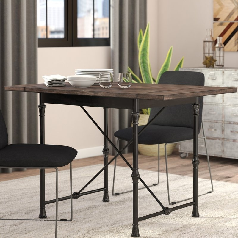 Trent Austin Design Cristal Drop Leaf Dining Table & Reviews | Wayfair With Cheap Drop Leaf Dining Tables (View 16 of 25)