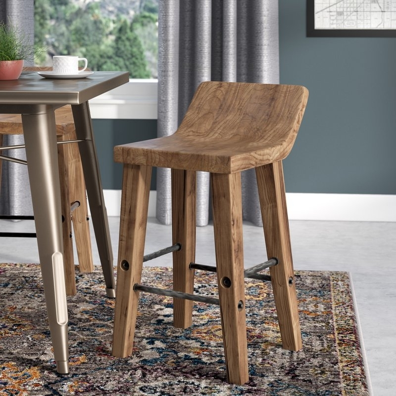 Trent Austin Design Feinberg Bar & Counter Stool & Reviews | Wayfair Pertaining To Laurent 7 Piece Counter Sets With Wood Counterstools (Image 24 of 25)